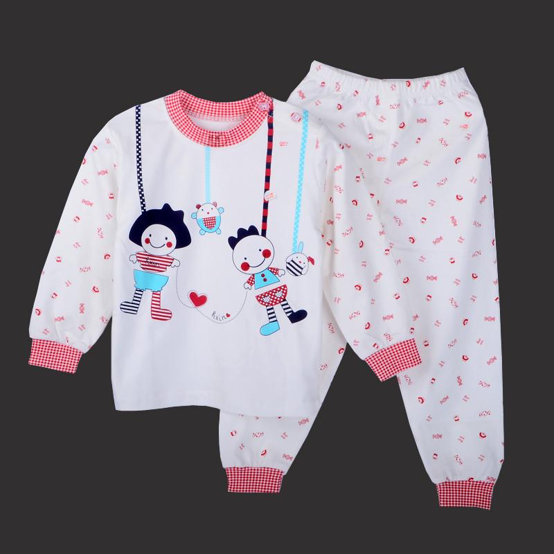 好鑫女童0-1岁儿童秋衣女宝宝衣服长袖春秋女2-3婴儿内衣套装纯棉