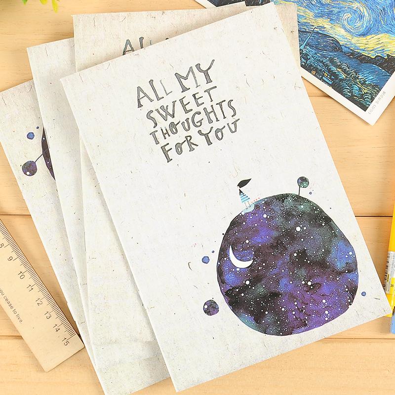 本木/甜蜜想你 骑马钉本 创意韩国可爱文具日记笔记本 记事本子A5