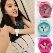 South Korea o * darth clover fashion sports watches lovers hand jelly candy color men and women