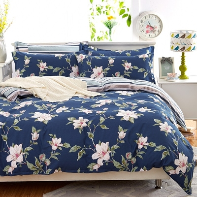 Red Peony simple cotton four-piece bedding cotton quilt cove...