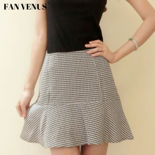 Fan Venus in Europe and the original design A word skirt plover case ruffled skirt joker skirts package hip skirt cotton