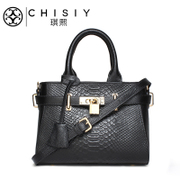 Qi Xian leather satchel bags women bags fall 2015 the new top layer leather crocodile pattern Platinum simplicity