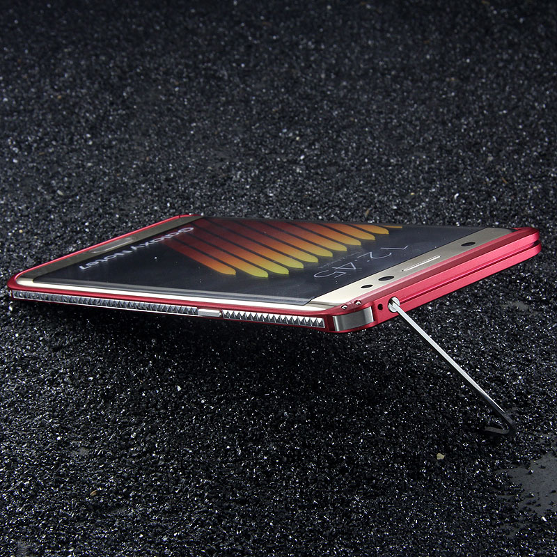 iMatch Slim Light Aluminum Metal Shockproof Bumper with Kickstand for Samsung Galaxy Note 7 N9300