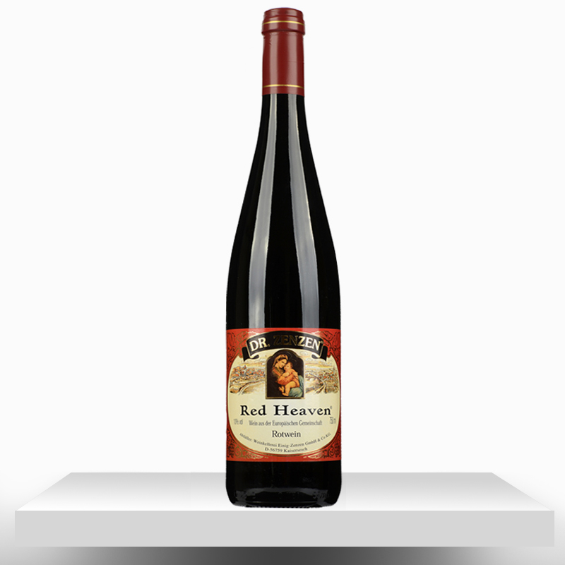 German original bottle of imported red pink beauty semi sweet red wine for women