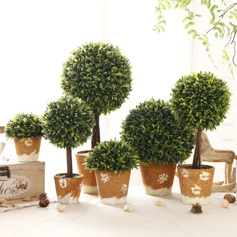zakka美式 仿真植物盆栽小擺件辦公室客廳家居裝飾品盆景擺設