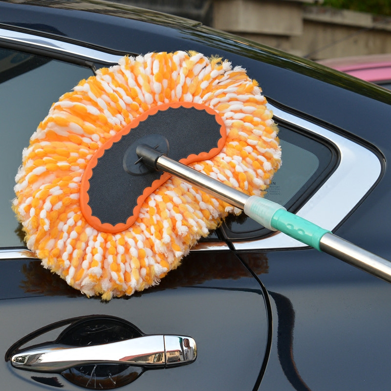 洗車刷子長柄伸縮車拖把除塵撣子纖維納米汽車拖把洗車刷牛奶絲刷