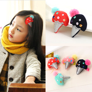 Know NI children baby hairpin girls hair accessories Korean fashion cute ice cream flowers flower hairpin jewelry