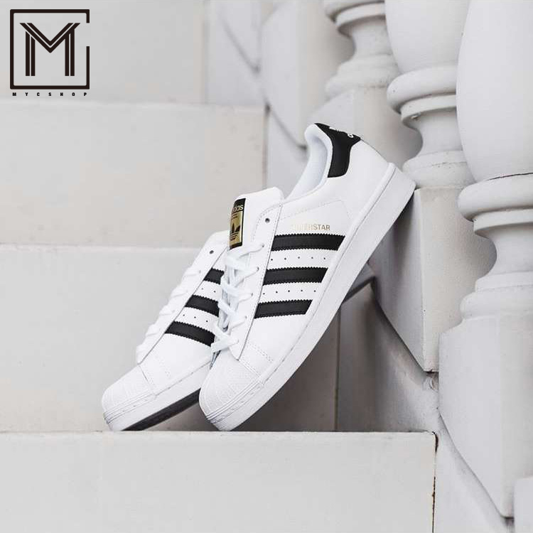 9792ca67e547 Adidas Clover SUPERSTAR Gold Label shell head casual shoes for men and women  C77124 B27140