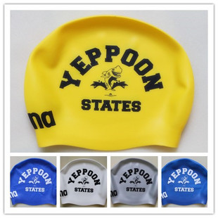 Genuine love of swimming arena stock special treatment waterproof silicone swim cap printing hippocampus shark Phoenix