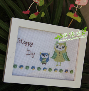 Magazines authentic French DMC cross stitch kits Threads owl Happy Days
