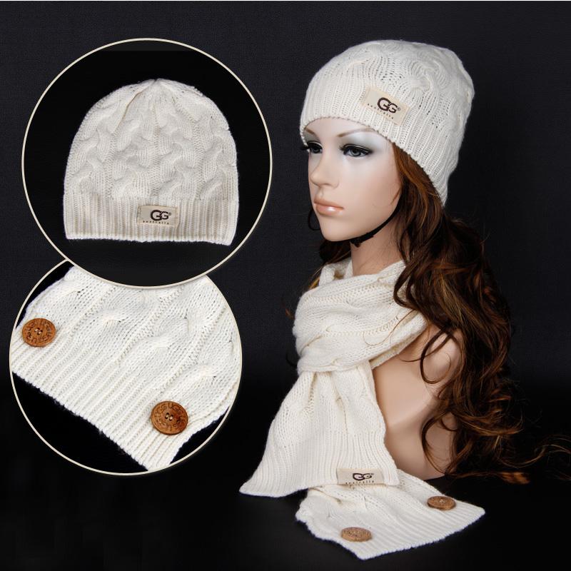 2014 двухсекционный моды Кнопка шерсти вязать шляпу шарф, ШАПКУ шапка и шарф