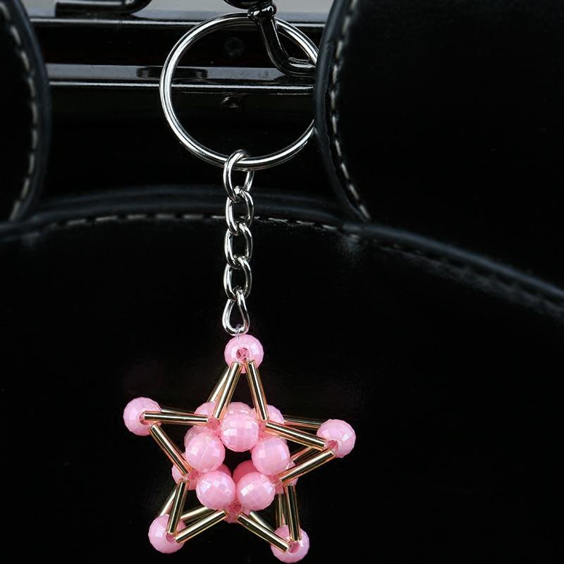 手工串珠幸运星挂件材料包钥匙包包汽车DIY挂件饰品工艺品编织