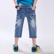 Summer wear panty boys summer wear shorts the 11-13-14 - year - old pupil jeans pants in the 7 minutes of pants cotton han edition