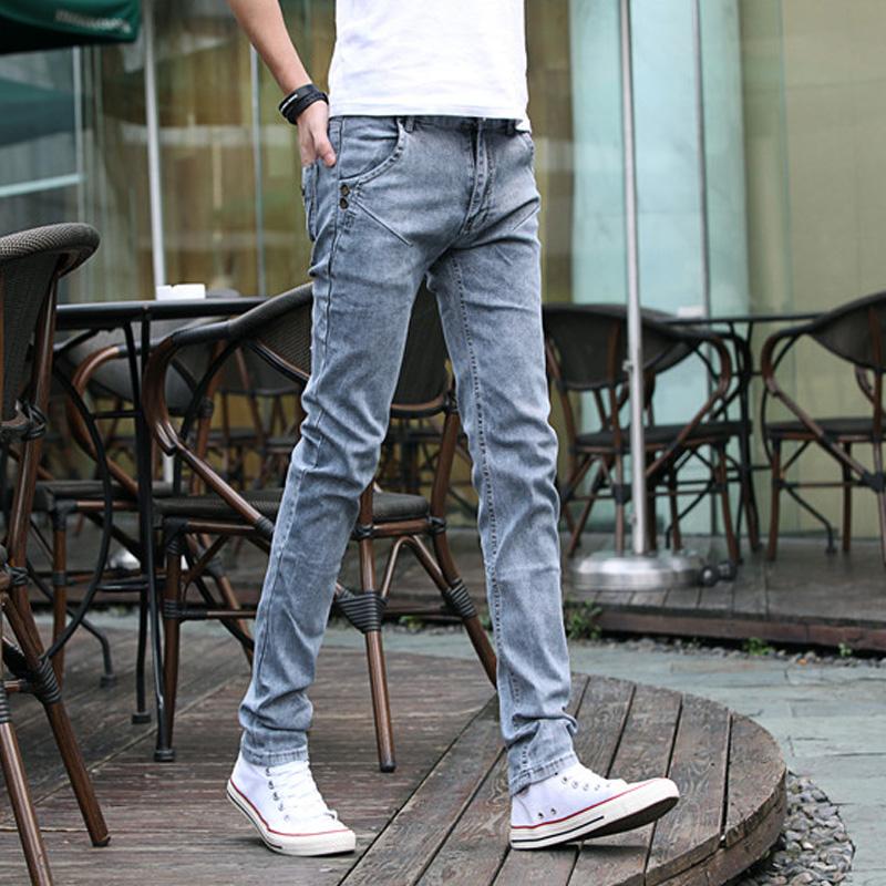 修身青少年小腳牛仔牛仔褲