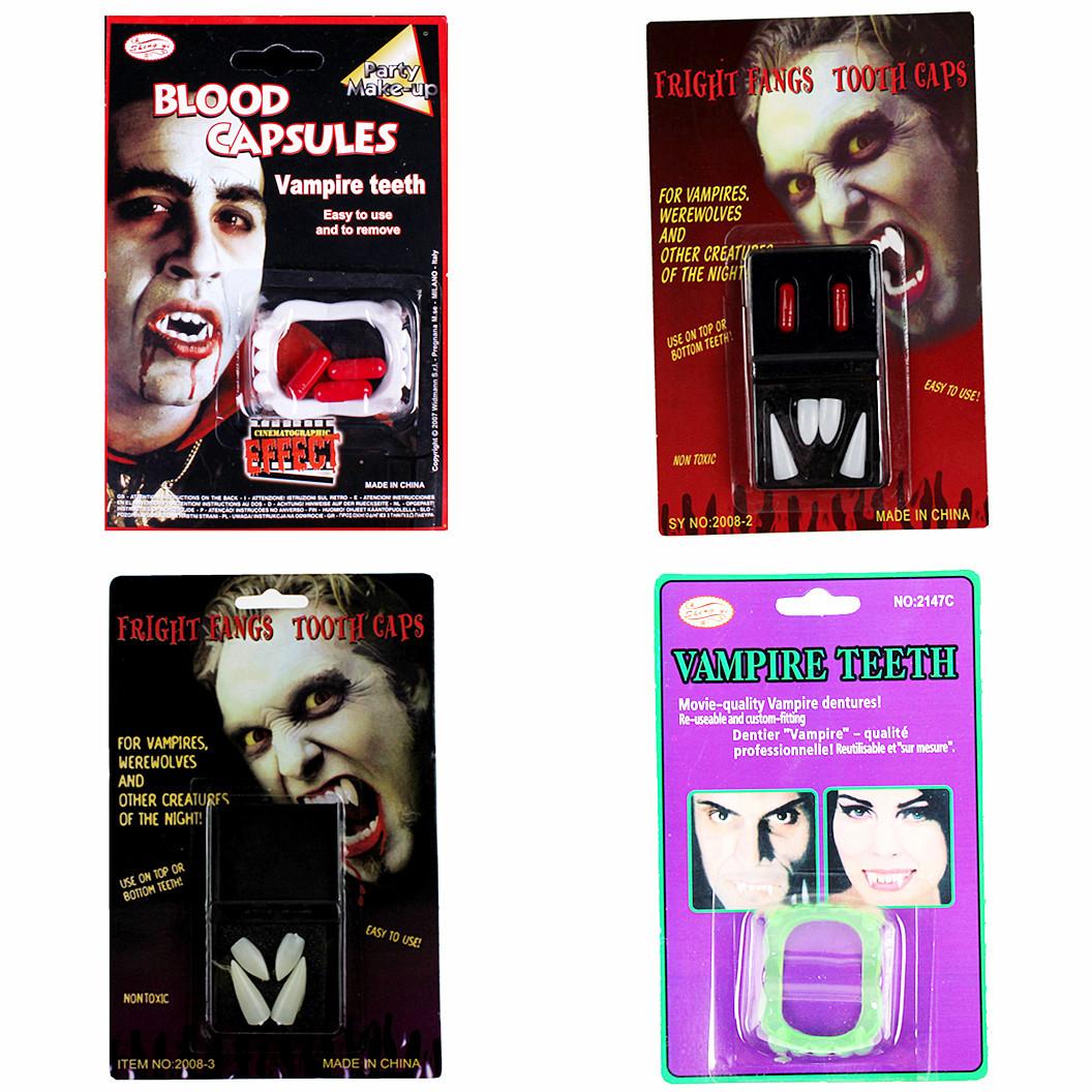 Линь Фэнг - 18g Хэллоуин костюмы вампир зомби вампира зубы острые зубы протезы протезирование крови таблетки вставные зубы