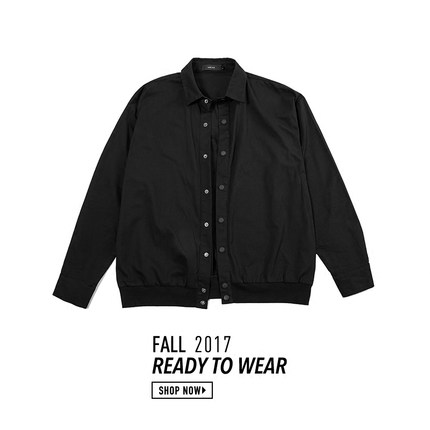 AWIYA 17℃ ALL BLACK VINTAGE JACKET 复古夹克衫薄款 S/S 2018