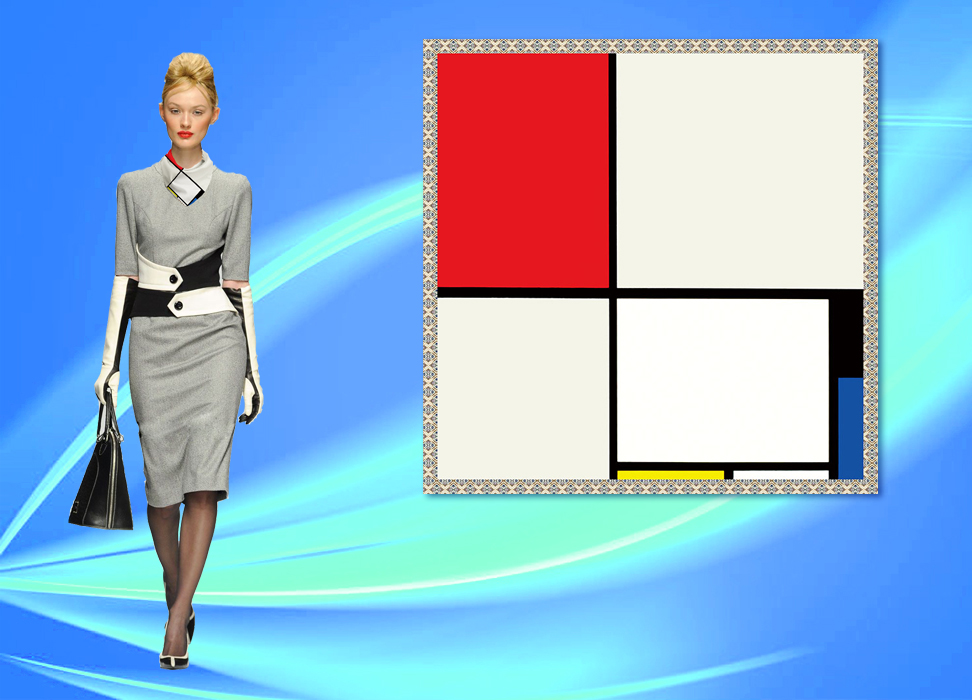 Customized scarf shawl, square scarf, belly pocket, silk scarf, headdress, famous painting Mondrian Abstract combination