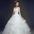 春夏季婚纱礼服2016新款时尚新娘结婚抹胸蕾丝绑带齐地修身女韩版