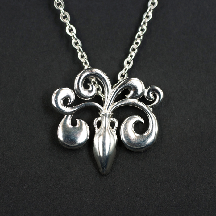 [thick wings] original jewelry design by independent designer - Zodiac Pendant - Aquarius Sterling Silver Pendant