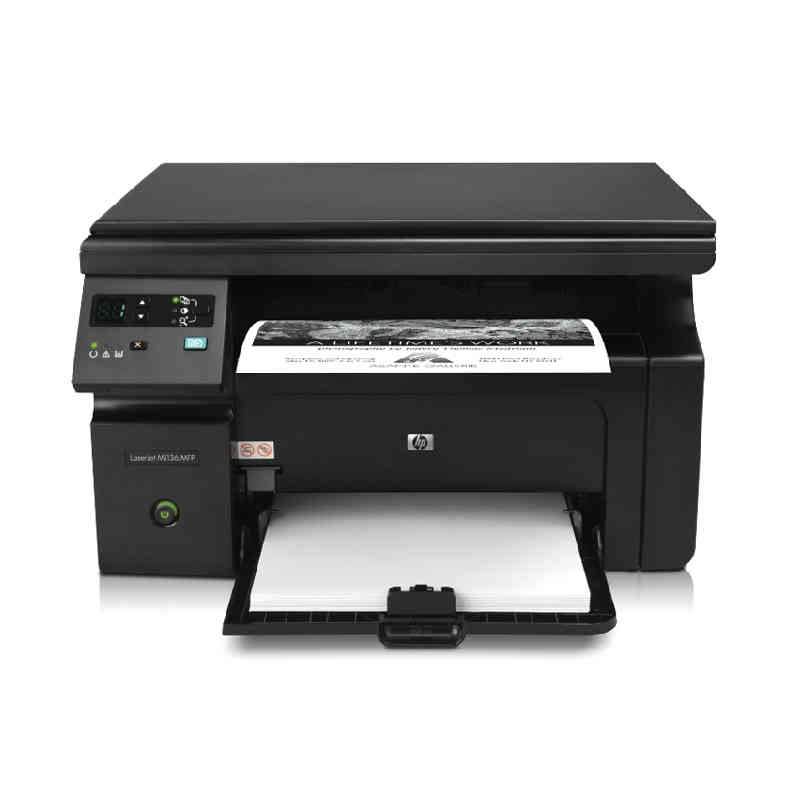 HP / HP m1136 printing, copying and scanning multifunction black and white laser printer all in one home office A4