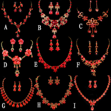 Thousand color bride alloy crown and diamond necklaces earrings marriage gauze accessories Wedding tiara wedding jewelry accessories