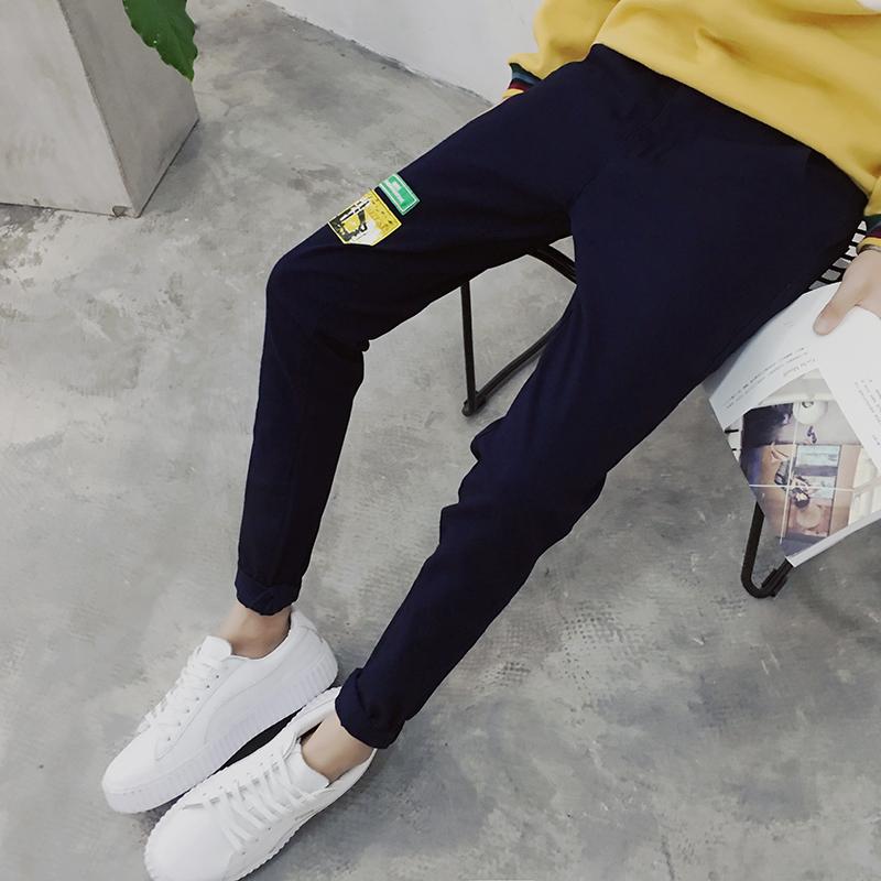 时尚秋冬季型男印花休闲牛仔男裤 潮流长裤 校园潮男装潮  F60P50