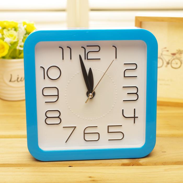 Портативный творческий ленивый квадратный будильник дремоты студентов будильник детей прикроватные часы Часы маленький будильник