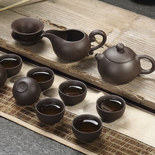 Yixing purple sand manually kung fu tea set Undressed ore violet arenaceous mud tea kung fu tea set kunfu tea