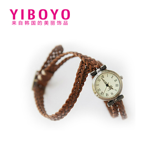 YIBOYO bracelet watch retro handmade leather bracelet watch Japan and South Korea sweet Korean Fashion Jewelry Ms