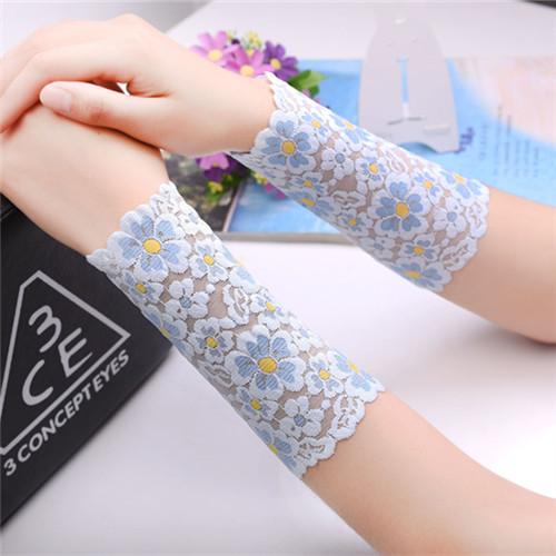 防晒护肤弹力蕾丝护腕肘护胳膊手套护袖大手臂遮挡伤疤痕纹身刺青