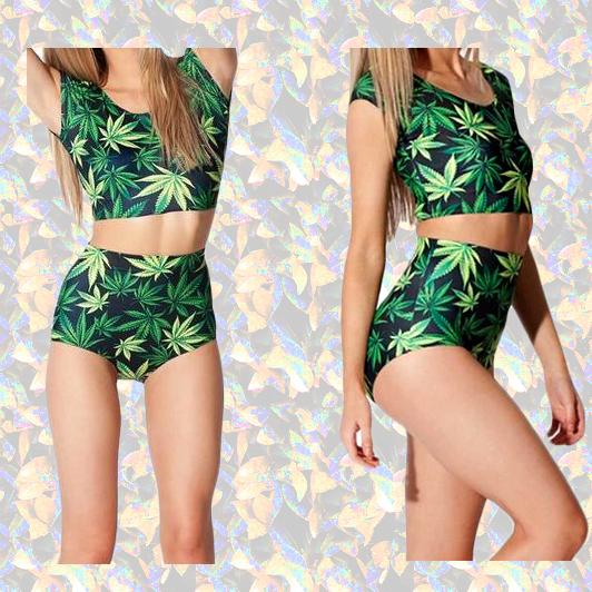 Купальник регги Ямайки мягкая хиппи сестра bang Harajuku двухсекционный костюм купальники бикини
