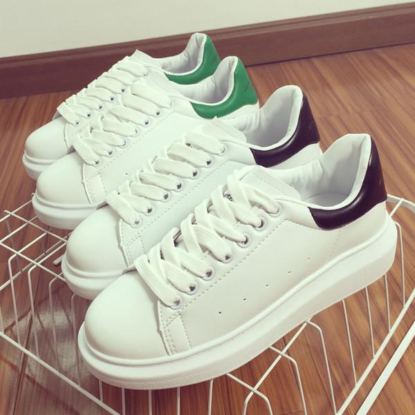 韩国小白鞋ulzzang运动鞋系带板鞋女休闲单鞋韩版厚底松糕鞋女潮