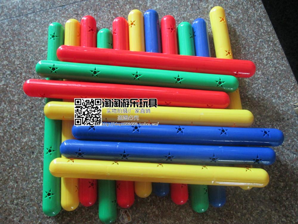 Подключать стержень детский сад гимнастика палка звук пластик цвет палка ребенок движение фитнес устройство оружие рано упражнение фитнес палка