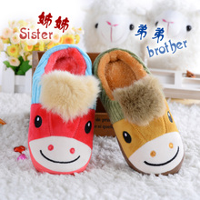 Children children cotton slippers antiskid indoor household baby slippers for men and women slippers cotton breathable package mail 1 to 6 years of age