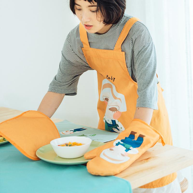 Милый мультики кухня выпекать выпекать высокотемпературные ошпаривают тепла площадку горшок подушка микроволновой печи жаркое коробка плюс толстый изоляция перчатки