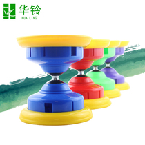 Wah Bell double head anti-Fall Circle Bamboo Beginner Fitness Bell children two-wheel shake buzzing students monopoly