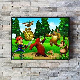 包邮卡卡满钻石画熊出没熊大熊二光头强夺宝熊兵儿童卡通画十字绣