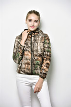 The new 2015 winter ms bionic camouflage tree light coats hooded tide female European and American wind coat