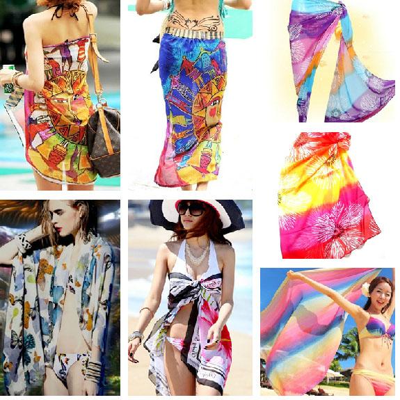 大裹紗圍紗披紗沙灘巾沙灘裙海灘罩衫披巾披紗比基尼泳衣