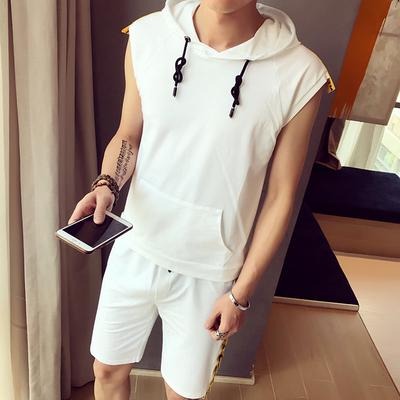 【套装】2017夏装新款无袖T恤短裤套装 A011-T347*P55