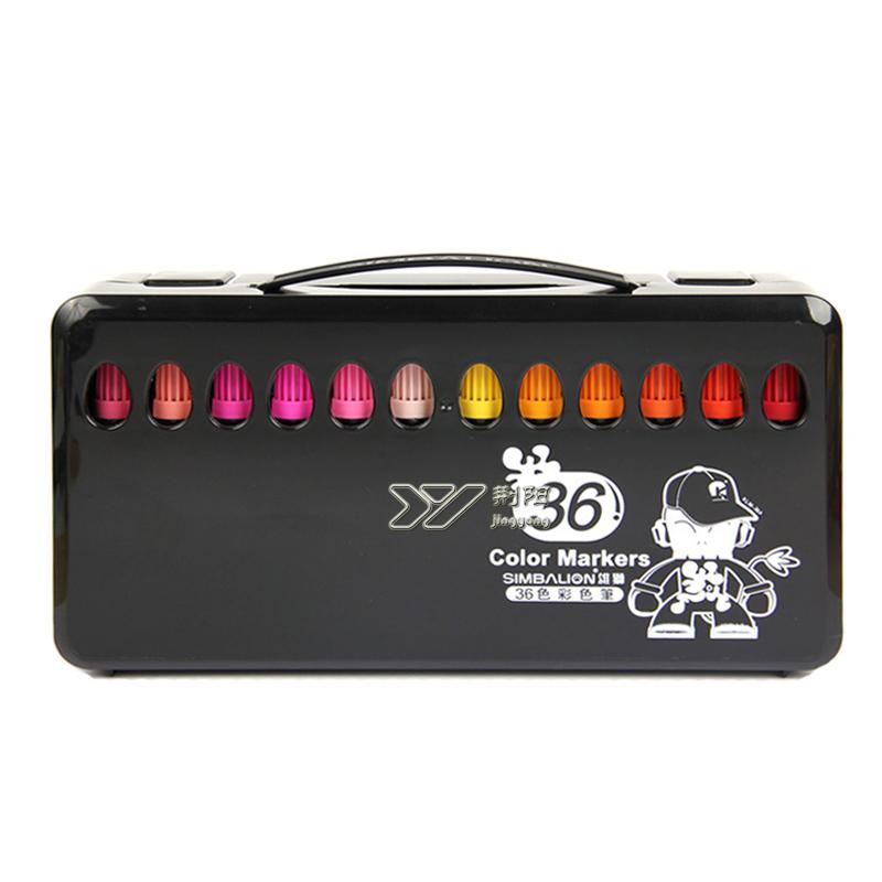 雄獅水彩筆 36色塗鴉繪畫彩筆 兒童無毒粗頭水彩筆套裝