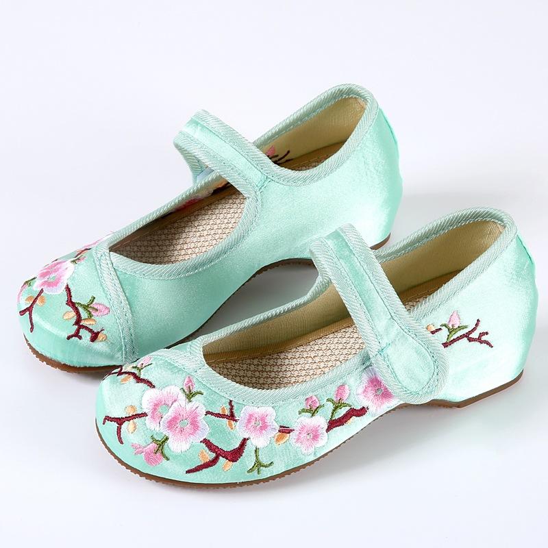 民族风秋季童鞋女布鞋单鞋 女童公主鞋 儿童老北京布鞋 绣花鞋