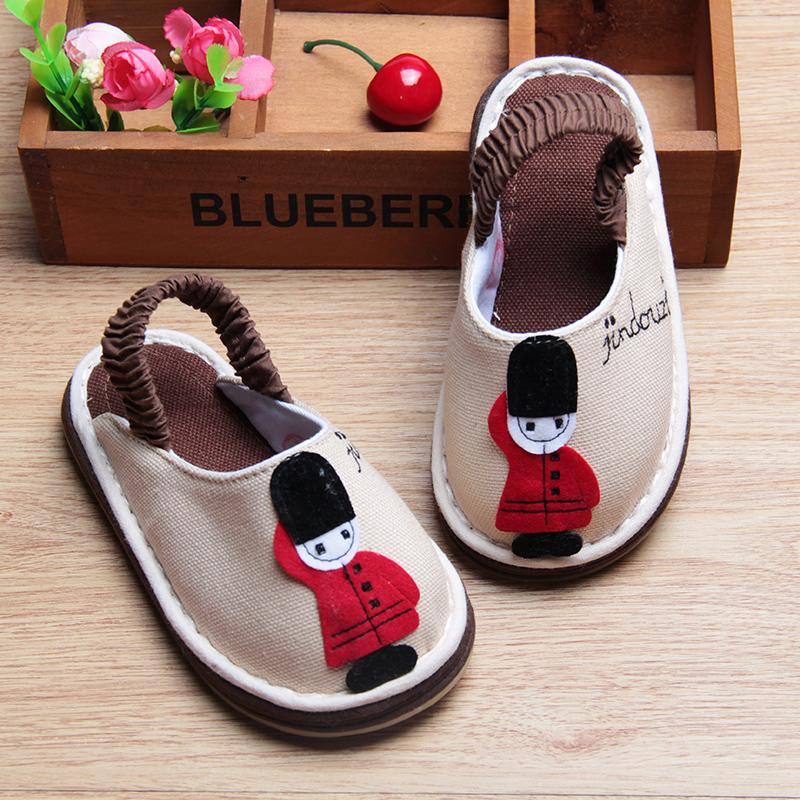 兒童 純棉布拖鞋防滑寶寶家居鞋春秋款小童拖鞋地板鞋1~5歲
