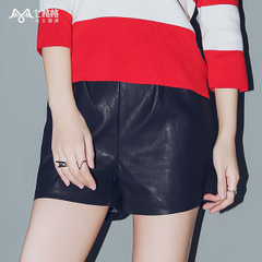 Seven space space OTHERMIX PU leather shorts black slim profile Joker shorts hot pants women