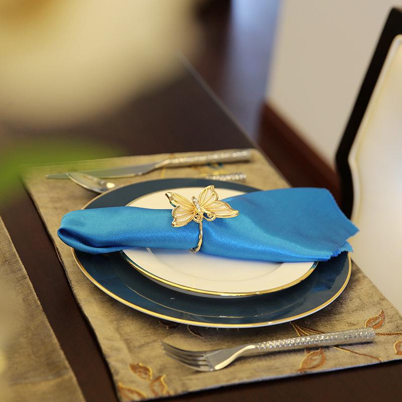 美式样板间西餐餐具套装家用欧式西餐盘西式牛排盘刀叉勺餐垫全套