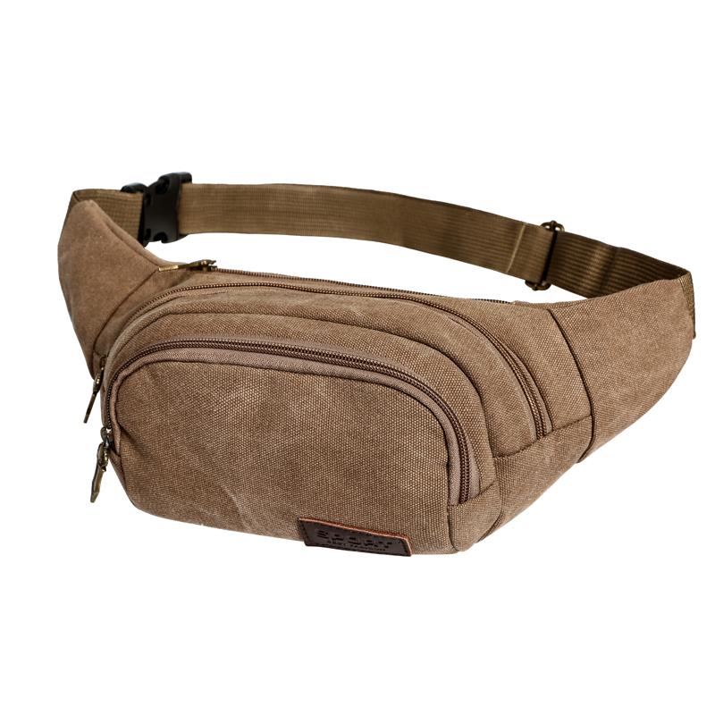 鼠奎特戶外腰包 胸包 小腰包旅遊手機包帆布男包斜挎小包