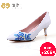 Alang in 2015 and autumn embroidered shoes with stiletto pointy shoes ethnic women high heel shoes 205