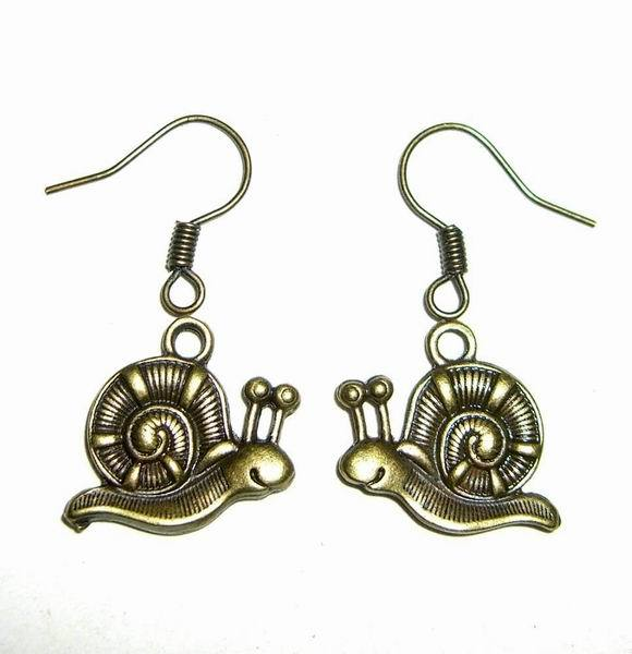 Snail Earrings a3418 palace antique copper alloy jewelry