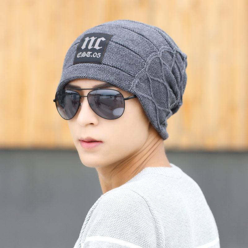 帽子男冬天 潮秋 針織帽毛線帽韓國保暖加絨帽護雙層包頭帽
