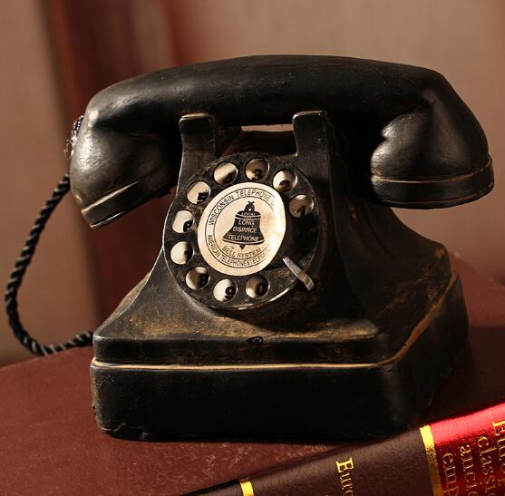 做旧做脏工艺 电话机 影楼复古摄影道具杂货家居装饰品工艺摆件